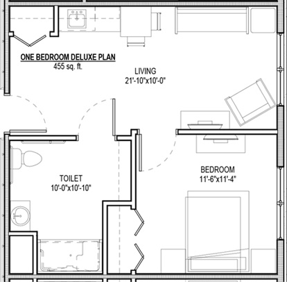 1 Bedroom Standard Suite